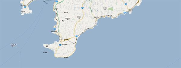 房総半島周辺 Googleマップ2010年7月30日