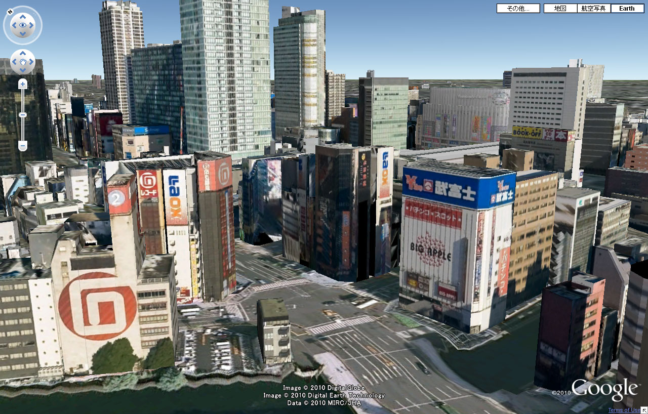 Google Earth秋葉原