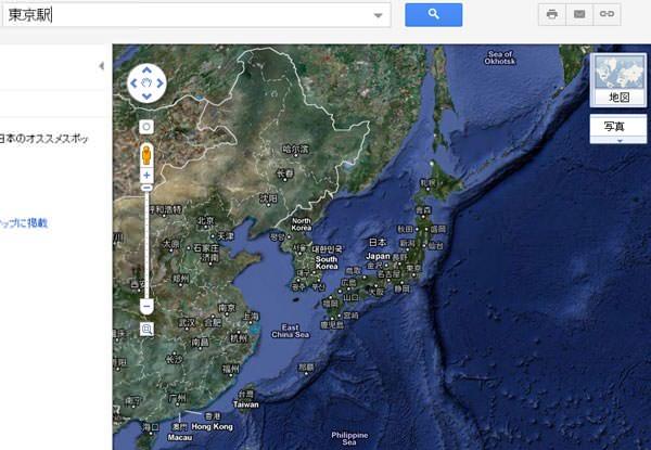 Googleマップがエラーを起こしている画面